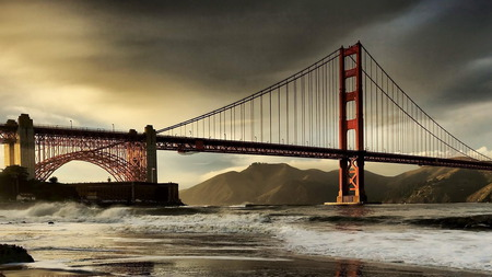 SF Bridge - sky, bridge, hot, nature, scene
