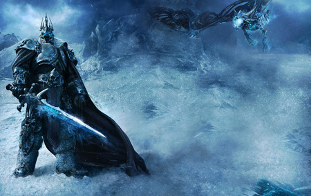 LichKing and Sindragosa - world of warcraft, lich king, wotlk