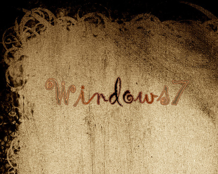 windows seven - windows, seven, desktop, papyrus