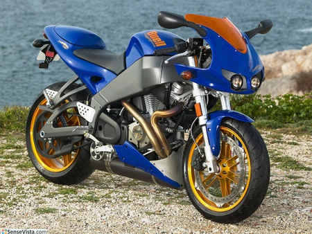 Buell Firebolt XB12R - gold, bike, blue