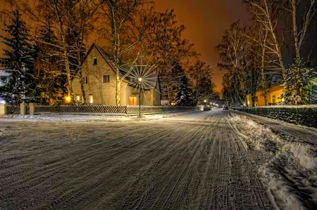 SNOWY NIGHT - Winter & Nature Background Wallpapers on ...