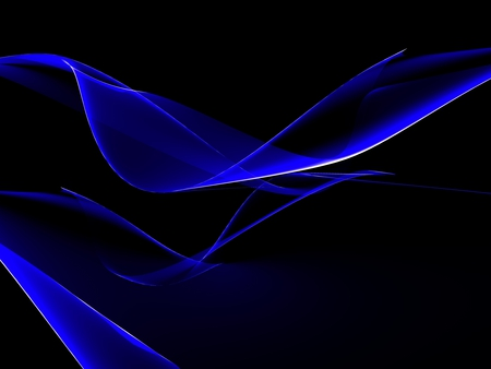 Blue abstract - beautiful, blue, 3d abstract, abstract, 3d