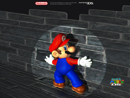 mario special - man, wall, blue