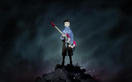Naota - trash, sexy, cool, smoky, anime, wtf is going on here, boy, female, flcl, cute hot, king, guitar, rubble