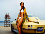 yellow corvette hd wallpaper