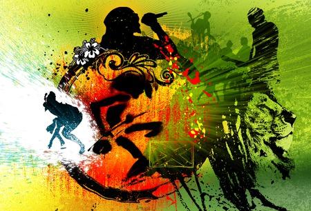 Papel de Parede - Reggae - reggae, musica, music, de, festival, cores, salvador, colorido