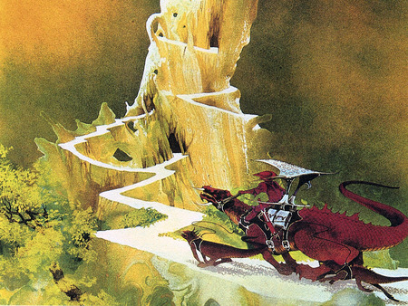 Green Castle - roger dean, fantasy