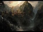 Beautiful chinesse hill artwork