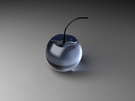 Glass Cherry - glass, photography, glas, black, antrazith, blue