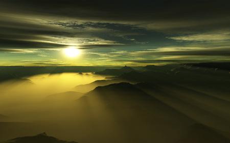 Sea of clouds - sea, clouds