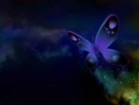 Fantasy Butterfly - butterfly, fantasy, butterflies, dark, art, abstract
