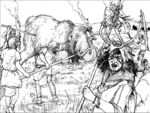 Hunting of a Mammoth bull