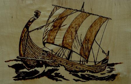 Viking Ship - ship, viking ship, graphics