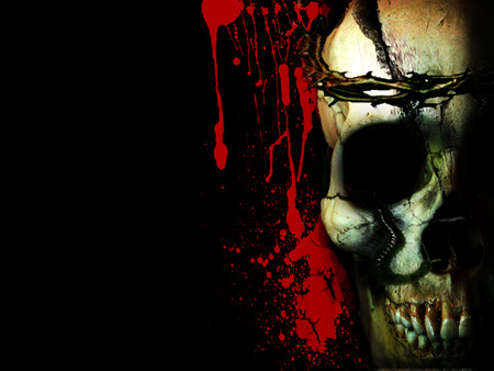 bloody skull wallpaper related - photo #10