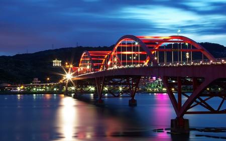 Bridge - night, bridges, architecture, lights