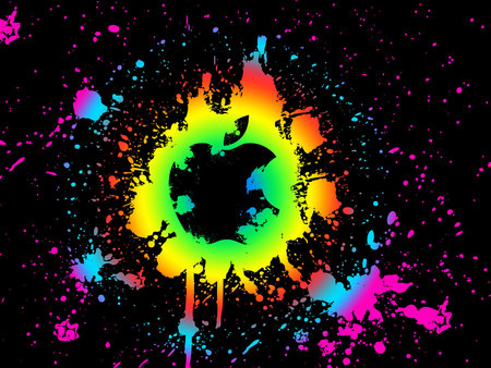 Paintball Mac - apple, black, mac, logo