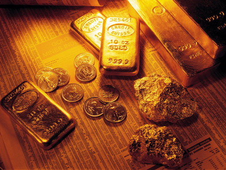 Gold nugget and ingots - nuggets, ingots, gold