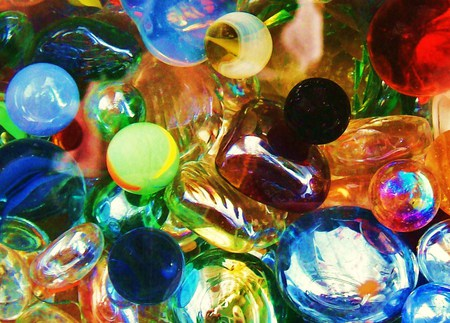 LOST MARBLES - texture, foxy, colorful, glass, abstract
