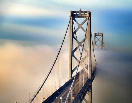 Bridge in Clouds - cool, bridge in clouds, picture