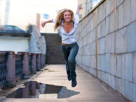 Flying Girl - flying girl, cool, picture