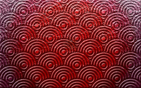 Red Tred - pattern, concentric circles, circles, design, textures, tranquil, concentric, calm, sand, lines, colours