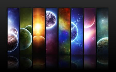 PLANET INFINITY - colorful, planets, moons, space