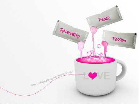 Cup Of Love - cup of love, friendship, love, heart, passion,