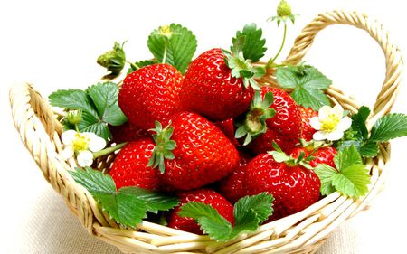 Yummy strawberries - strawberries, red, yummy, fruits