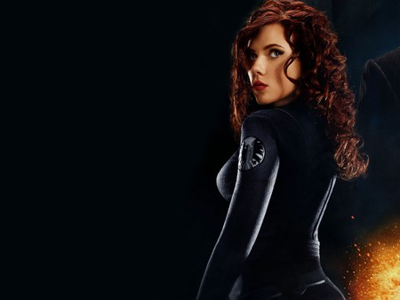 Black Widow - Scarlett Johansson - movie, iron man, actress, female