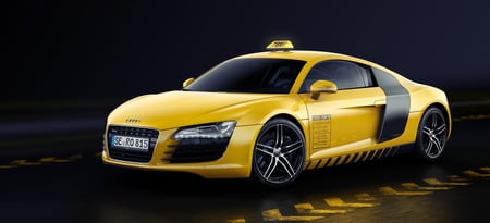 Yellow Taxi Audi Cars Background Wallpapers On Desktop Nexus