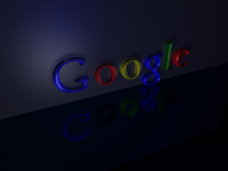 GOOGLE IN COLORS - colors, google, reflection, word