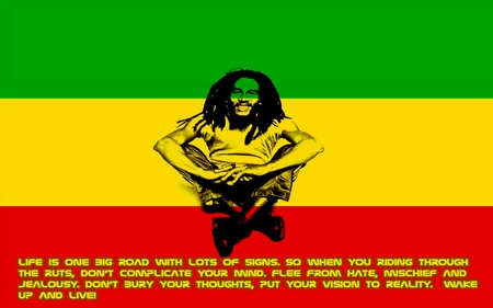 Life is one.... - reggae, qutoes, legend, bob marley, freedom, life, jamaica, free