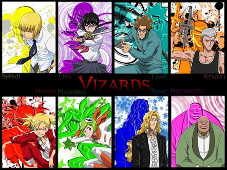 The Vizards - bleach, rose, lisa, mashiro, hiyori, hachigen, kensei, vizard, shinji, love