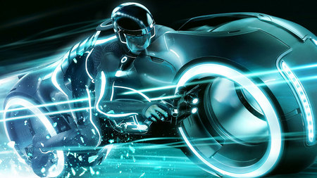 Tron Legency - motorcycle, speed, game, movie, tron