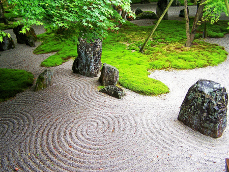 Japan Kyushu Zen Garden Other Nature Background Wallpapers