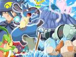 Lucario, master And Other Pokemon