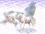 Pegasus and Unicorn in the Sky