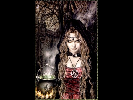 Witch Celebration - dark art, victoria frances, celebration, dark, ritual, witch, sorceress, witch celebration