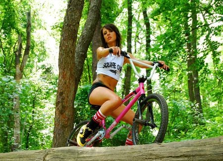 Bmx models female people background wallpapers on desktop nexus bmx girl hot bicycle voltagebd Choice Image