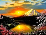 VOLCANO AND CHERRY BLOSSOMS JP.
