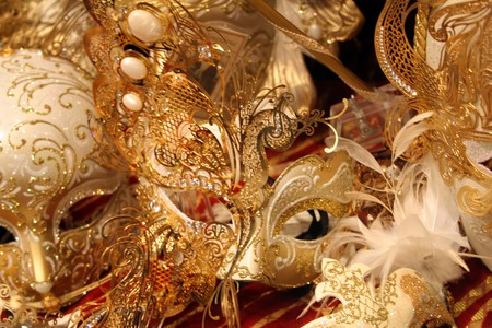 Beautiful masks - masks, jewels, feather, glitter, golden, face, mask, diamonds