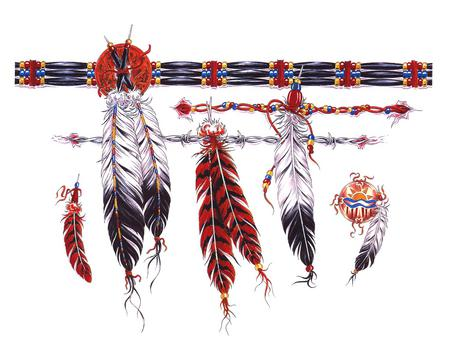 Native Feathers - abstract, feathers, other, native american
