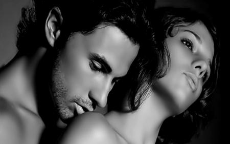 One more Kiss - woman, white, photography, kiss, man, black