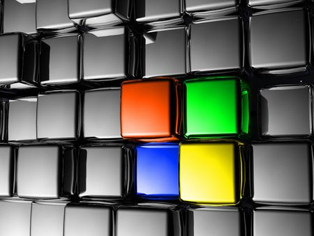 windows inside silver - windows, abstrasct, start, logo, online, computer, system, silver