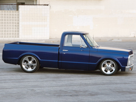 72 Chevy C10 - classic, gm, chevy, blue