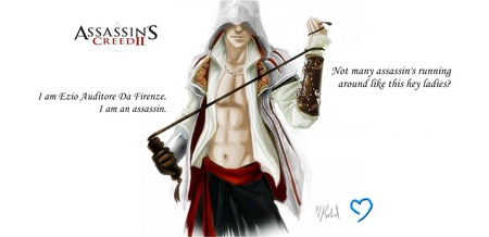 Ezio Auditore Da Firenze, The sexy assassin! - skilled, warrior, medieval, assassins creed, fighter, killer, ezio, assassin