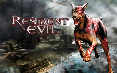 A zombie doberman has spotted you - cerberus, resident evil, doberman, cerberus wallpaper, zombie dog, resident evil dog