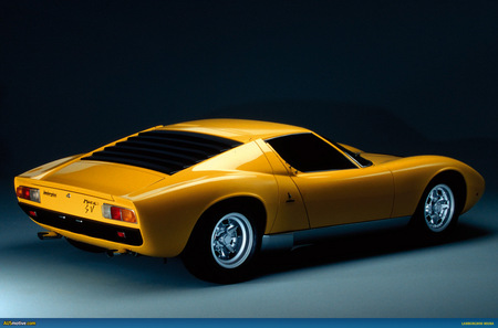 Miura Side Rear View Lamborghini Cars Background Wallpapers On