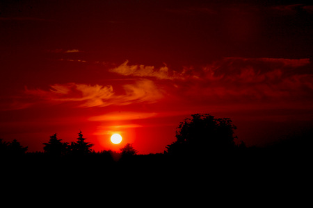 Sweet Sunset - red, photography, nature, sunset, landscape