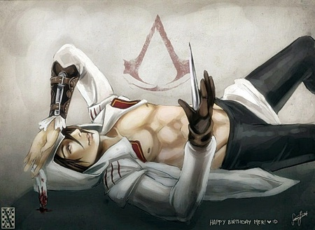 AC2 naughty Ezio - skilled, warrior, medieval, assassins creed, fighter, killer, ezio, assassin